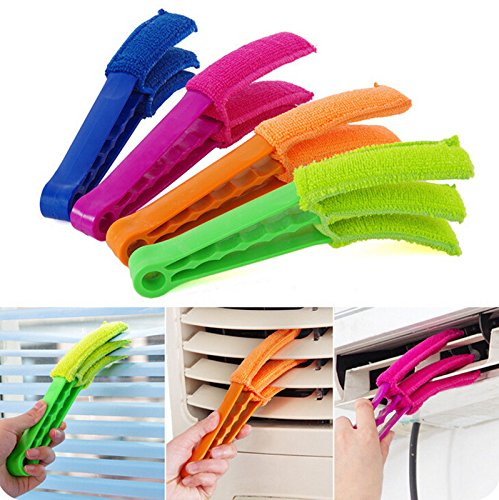 Bumud Microfiber Wuzzy Blind Duster Shutters Cleaner Window Brushes Set Of 4